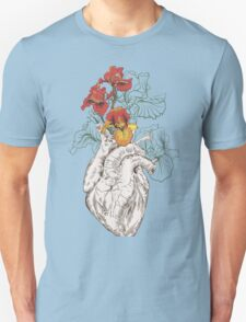 drawing Human heart with flowers T-Shirt