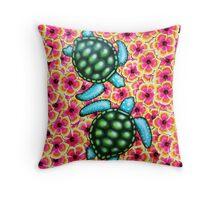 Hibiscus Sea Throw Pillow