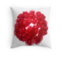 Poppy Wreath Throw Pillow