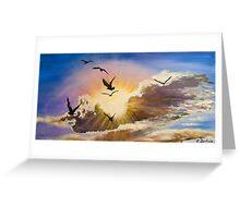 Erupting Sky Greeting Card