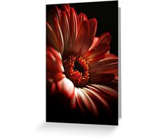 A Floral Red Head Greeting Card