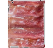 Prosciutto top view as background structure iPad Case/Skin