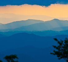 sunset on blue ridge by Alexandr Grichenko