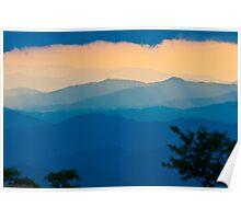 sunset on blue ridge Poster