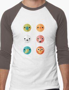 Smiley Faces - Set 3 Men's Baseball ¾ T-Shirt