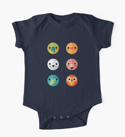 Smiley Faces - Set 3 One Piece - Short Sleeve