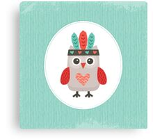 Hipster Owlet Mint Canvas Print
