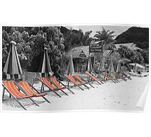 Funky deck chairs Poster