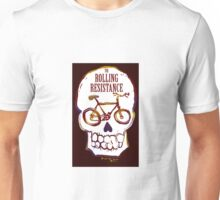 Rolling Resistance (bicycle skull) Unisex T-Shirt