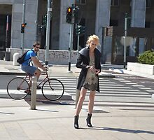 The Model and the Cyclist  by Imagery