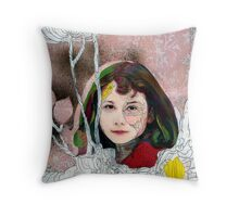 portrait of Gracie::no.3 Throw Pillow
