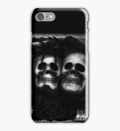 Bride and Groom Skulls Enhanced iPhone Case/Skin