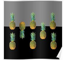 Pineapples fight Poster