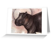 Smile (the Hippo) Greeting Card