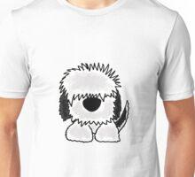 Funny Old English Sheepdog Original Art Unisex T-Shirt
