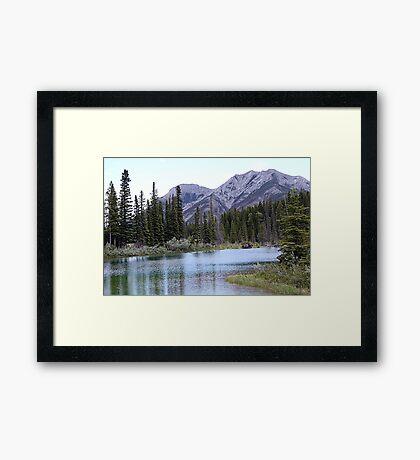 The Wedge & Wedge Pond Below Framed Print
