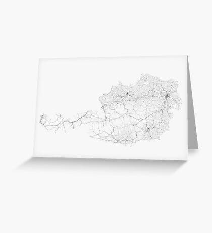 Roads of Austria. (Black on white) Greeting Card
