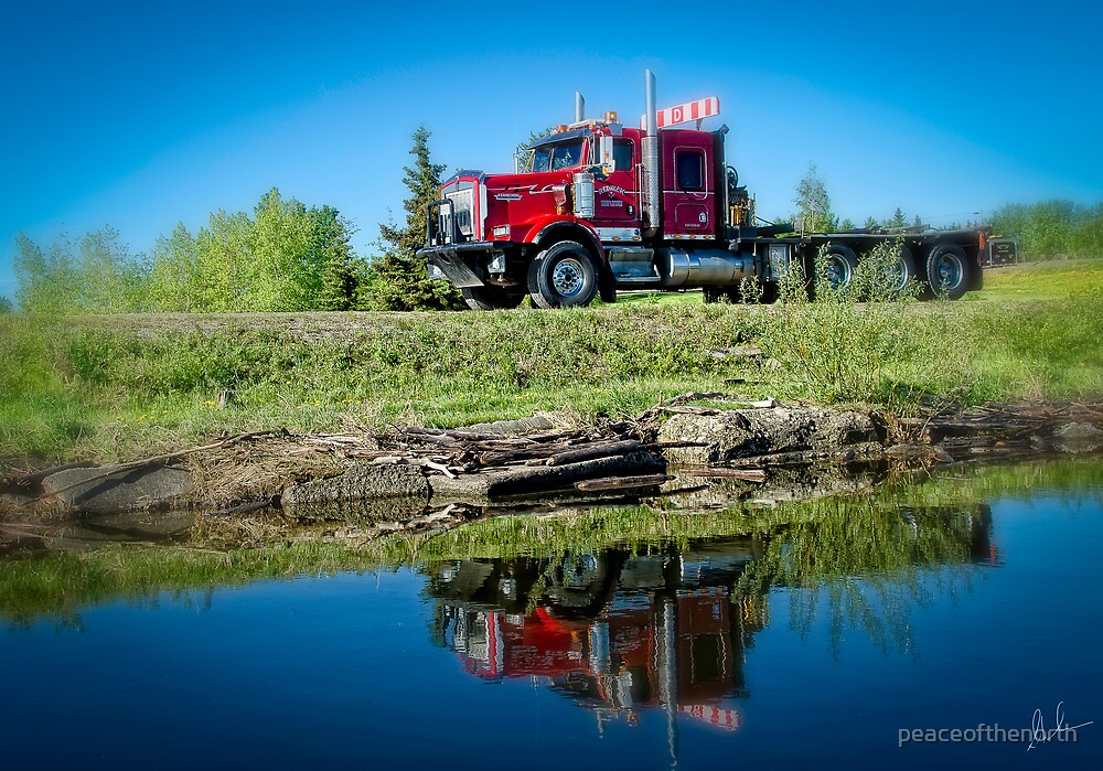 Big Rig Reflections by peaceofthenorth