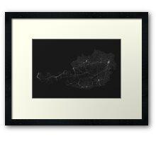 Roads of Austria. (White on black) Framed Print