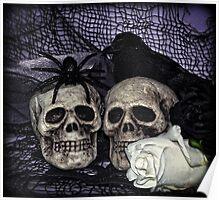Bride and Groom Skulls Poster