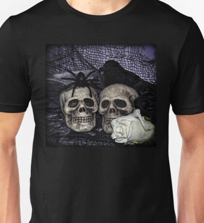 Bride and Groom Skulls Unisex T-Shirt