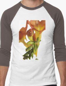 Orange Fresia Macro Men's Baseball ¾ T-Shirt