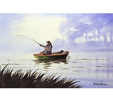 Fishing With A Loyal Friend Photographic Print