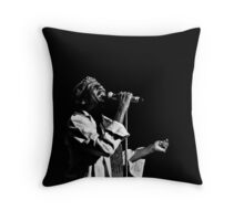 Jimmy Cliff (B&W) Throw Pillow