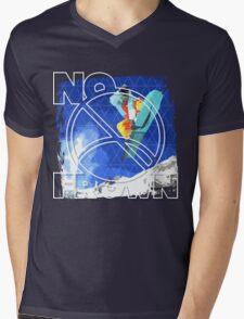 No Frown - Snowboard Mens V-Neck T-Shirt