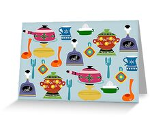 Pots & Pans Greeting Card