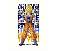 Son Goku Art Print