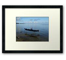 Boat on Stilts Framed Print