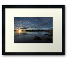 Arctic sunset Framed Print