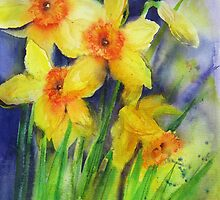 Splashy Daffs by artbyrachel