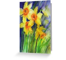 Splashy Daffs Greeting Card