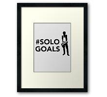 Solo Goals Framed Print