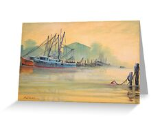 Tarpon Springs Florida - Sponge Docks Greeting Card