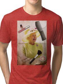Portrait of Queen Elizabeth II Tri-blend T-Shirt