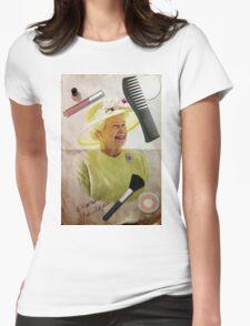 Portrait of Queen Elizabeth II Womens Fitted T-Shirt