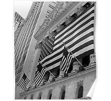 Patriotic - Stock Exchange, New York Poster