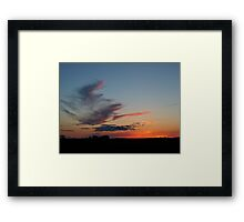Straight on 'till Morning Framed Print