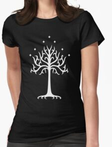 Lord of the Rings - White Tree of Gondor Womens Fitted T-Shirt