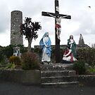Crucifixion Scene,Aghadower,Co.Mayo,Ireland.#1 by Pat Duggan