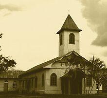 Church in Piedras Negras BW by Guy Tschiderer