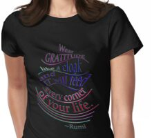 Another wonderful RUMI quote Womens Fitted T-Shirt