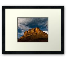 Red Rock Star Framed Print