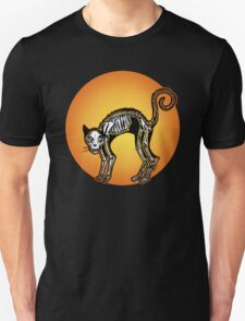 Halloween Cat Skeleton silhouette Unisex T-Shirt