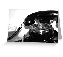 A Watched Phone Never Rings Greeting Card