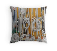 Rigging Lines Throw Pillow