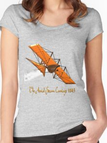 Aerial Steam Carriage, England 1843 Women's Fitted Scoop T-Shirt